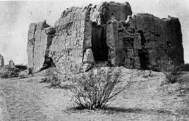The Casa Grande as it appeared in the early 1890's before stabilization work began.