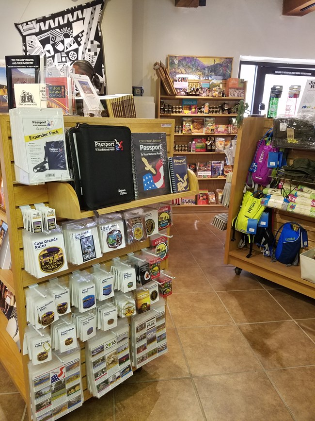 A variety of national park gift items