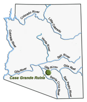 Where Did Their River Go Casa Grande Ruins National Monument - Map of major rivers in us