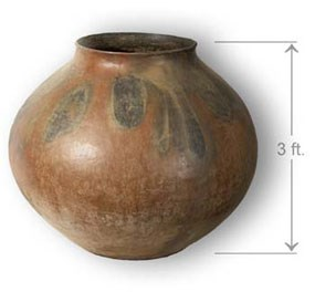 This very large olla was nearly intact when found at Casa Grande Ruins.