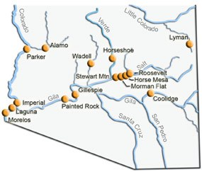 Dams located in southern Arizona