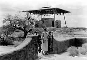 1932 image of visitors at Casa Grande Ruins - George A. Grant