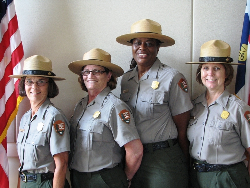 National Park Service Teacher-Rangers for summer 2010: Connie Grizzard, Pam Muse Williams, Lisa Spencer and Pat Baker.
