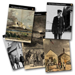 Collage of Cape Hatteras Civil War to Civil Rights trading cards