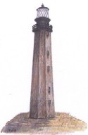 Drawing of the first Cape Hatteras lighthouse.
