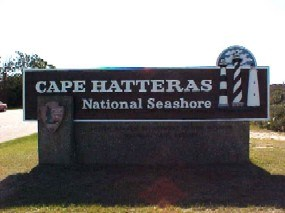 CApe Hatteras National Seashore entrance sign