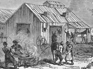 A blacksmith shop in a Freedmen's Colony