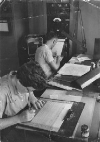 Lucy Stowe plotting data in 1955.