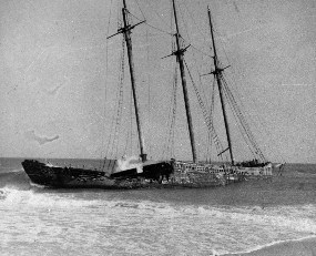Unknown three-masted schooner