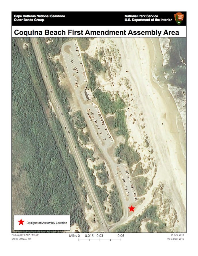 Coquina Beach Day Use Area First Amendment Assembly Area