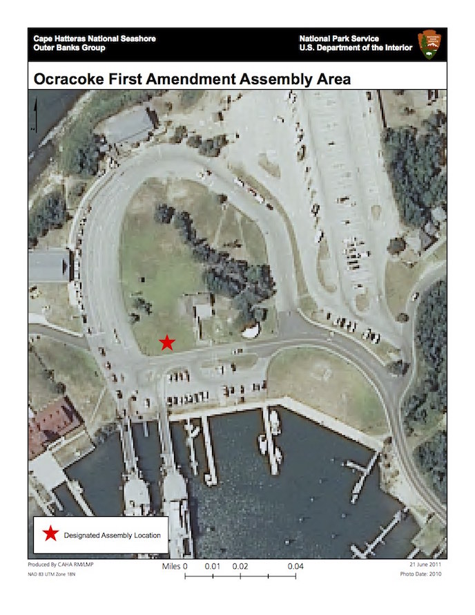 Ocracoke Island Visitor Center First Amendment Assembly Area