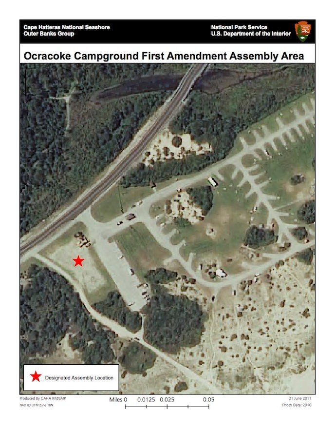 Ocracoke Campground First Amendment Assembly Area