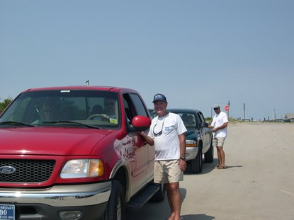 "NCBBA Members distribute information, free trash bags and helpful beach driving hints during ""Operation Beach Respect"""