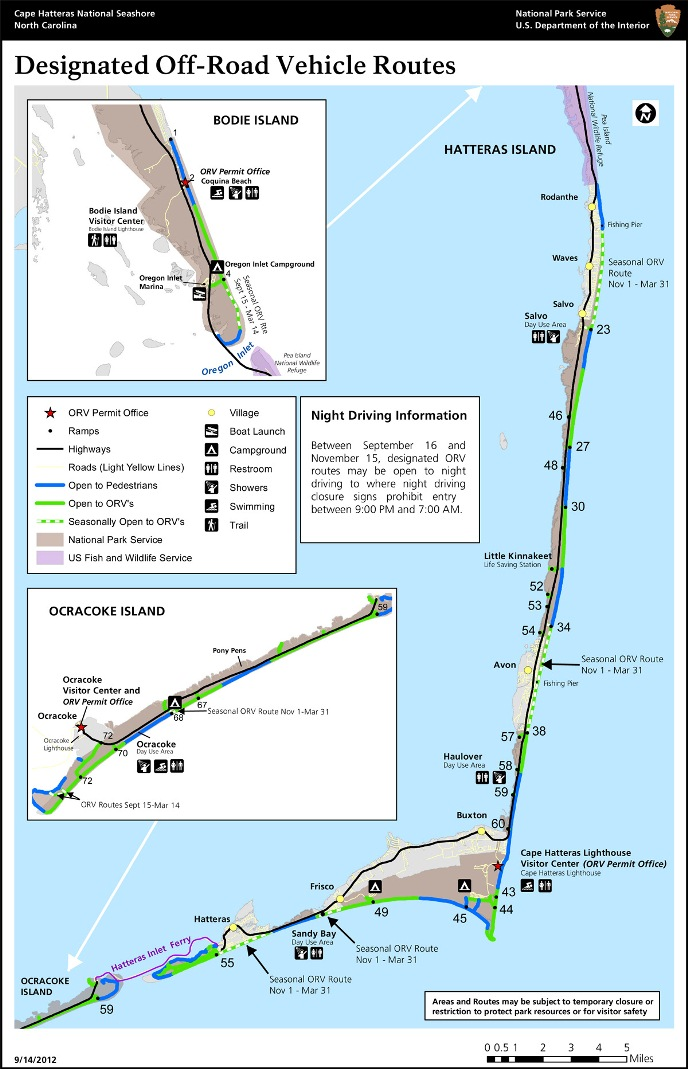 Hatteras Island Beach Access Map
