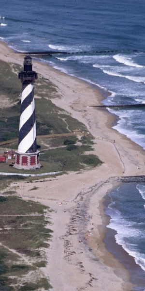 Cape Hatteras Lighthouse and the Atlantic Ocean