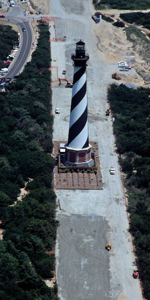 Moving the Cape Hatteras Lighthouse