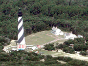 The Hatteras Island Visitor Center and Museum of the Sea are located at the Cape Hatteras Lighthouse