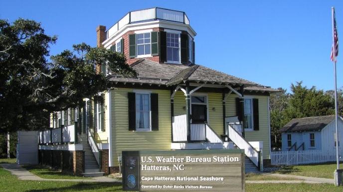 the us weather bureau on hatteras island cape hatteras. Black Bedroom Furniture Sets. Home Design Ideas