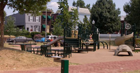 Playground equipment in Marion Park