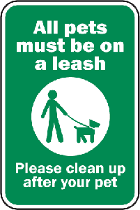 Pets Must Be On Leash