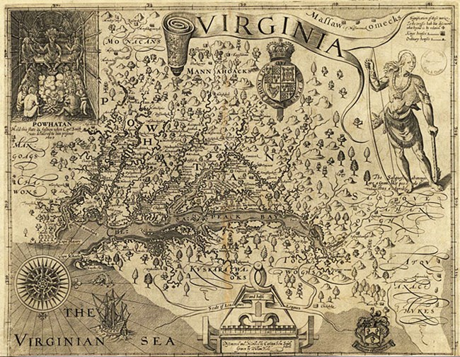 John Smith's 1612 map of the Chesapeake