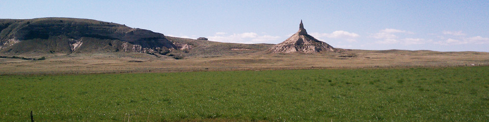 Chimney Rock was an important emigrant landmark in western Nebraska