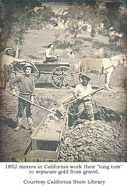 1852 miners in California work their