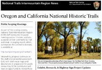 Image of the Oregon-California Trails Association newsletter cover with a photo of a wagon at New Fork River Crossing Historical Park with fall leaves on cottonwood trees.