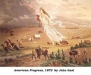 1872 Painting by John Gast of American Progress.