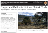 A thumbnail photo of a newsletter with a horizontal black bar and a paragraph of text with photo of trees.
