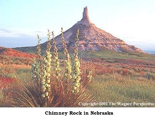 Chimney Rock National Historic Site in Nebraska.