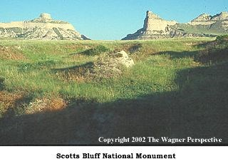 Mitchell Pass at Scotts Bluff National Monument.