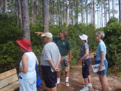 Tony leading Maritime Forest Tour