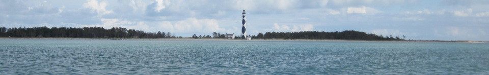 Cape Lookout Lighthouse from Barden Inlet