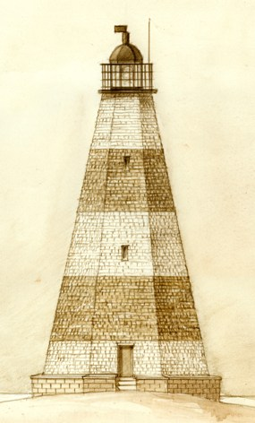 1812 Lighthouse sketch