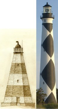 Two Cape Lookout Lighthouses