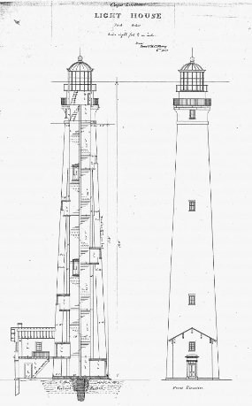 Architectural Plan for 1859 Lighthouse