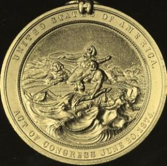 Gold Lifesaving Metal