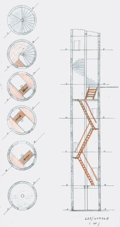 Lighthouse Wooden Steps Plan