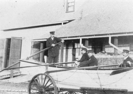 The crew of the Portsmouth Life-Saving Station, prior to 1915.