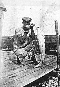 Fisher with Large Catch