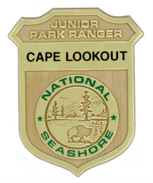 Cape Lookout Junior Ranger badge.