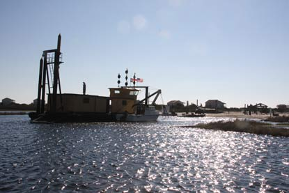 Dredge working at Long Point basin