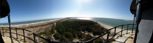 View of the cape from the lighthouse gallery.