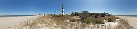 Panoramic View of Lighthouse Grounds