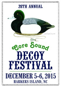 Poster announcing the 2015 Core Sound Decoy Festival