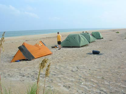 Beach Camping Cape Lookout National Seas U S Park Service
