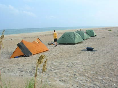 Beach camping - Cape Lookout National Seashore (U S  National Park