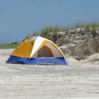 Primitive beach camping.
