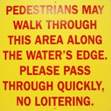 Pedestrian Travel Sign